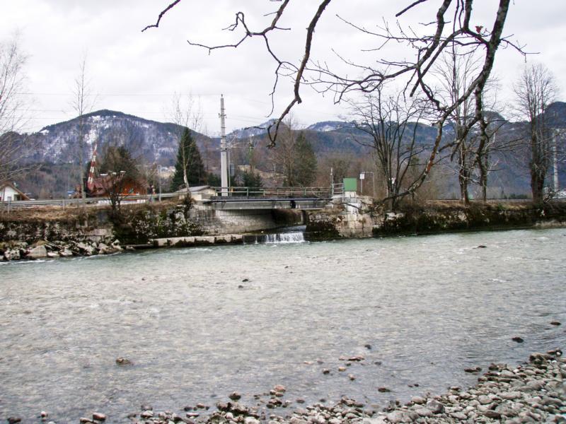 Die alte Sulzbachmündung, vor den Umbau mit Fischaufstieg