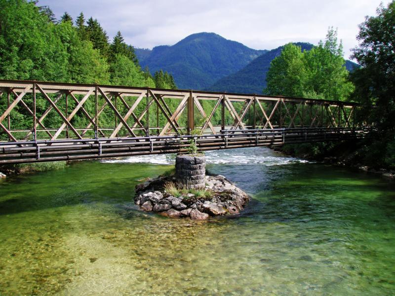 Die alte Lokalbahnbrücke in Bad Ischl (wurde 2007 erneuert)
