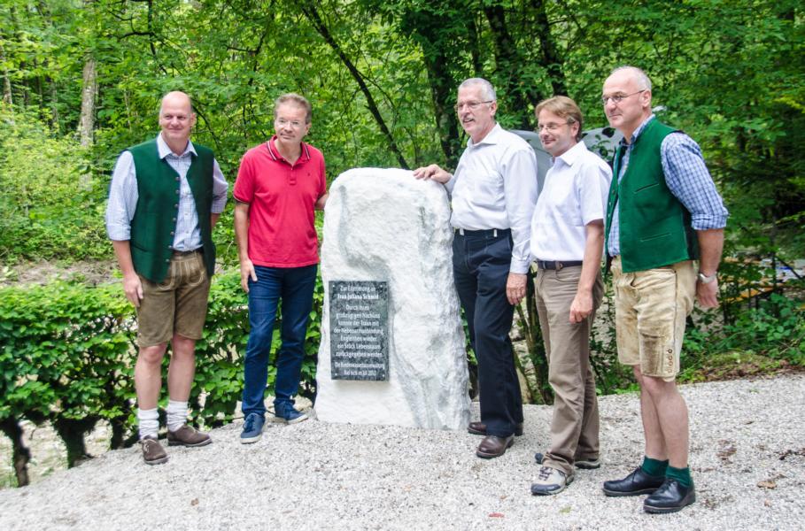 vlnr.: TAR Ing. Wilhelm Laimer; LR Rudi Anschober, Sektionschef DI Wilfried Schimon, Bgm. Hannes Heide, Bgm. Peter Ellmer