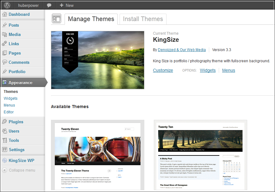 Homepage Update auf WordPress 3.4.1