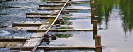 Die Seeklause in Steeg regelt den Wasserstand