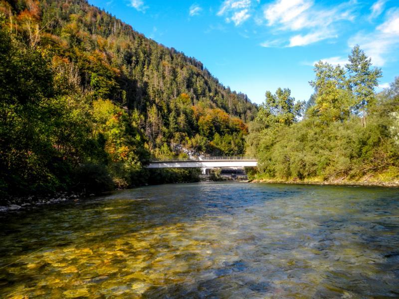 Hier unterhalb von Bad Ischl an einem schönen Herbstnachmittag