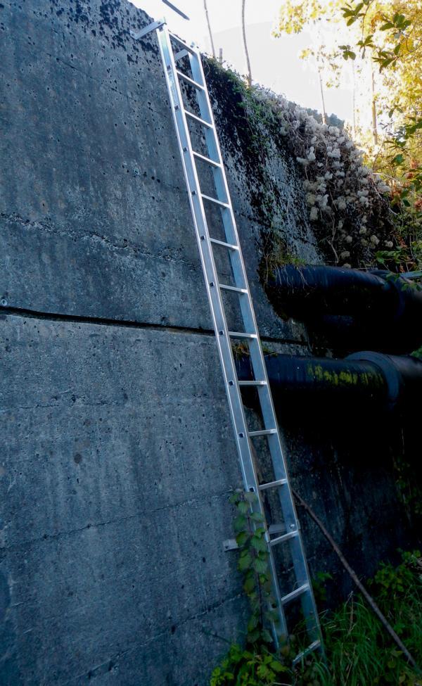 Es gibt Fisch - Leitern oder auch Fischaufstiegshilfen genannt, nicht zu verwechseln mit Fischer - Abstiegshilfen .... :-)