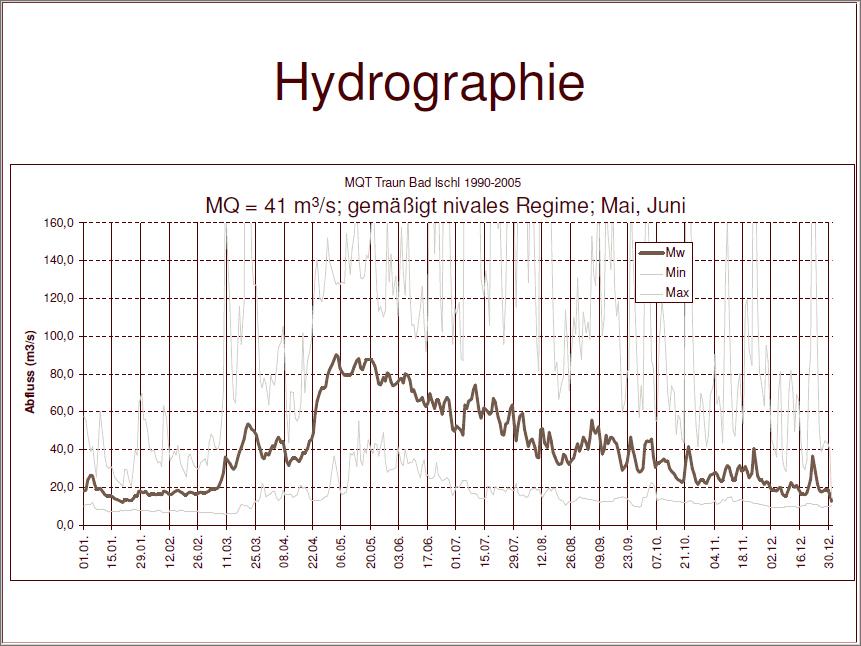 In den Wintermonaten herrscht normalerweise eine stabile Hydrographie in der Ischler Traun