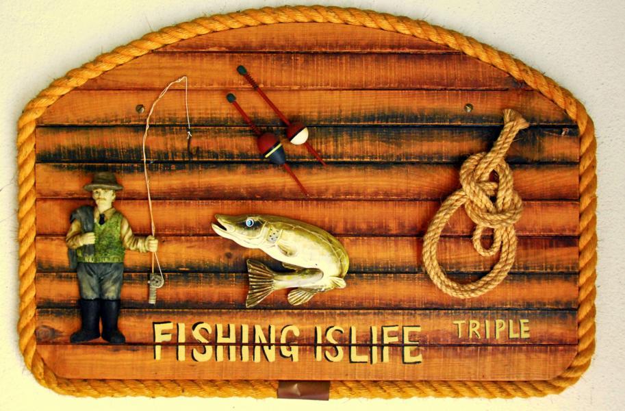 Wanddeko - Fishing is Life