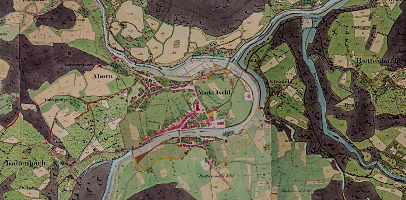 Auszug von der Doris Urmappe Bad Ischl in den Jahren 1824 bis 1830
