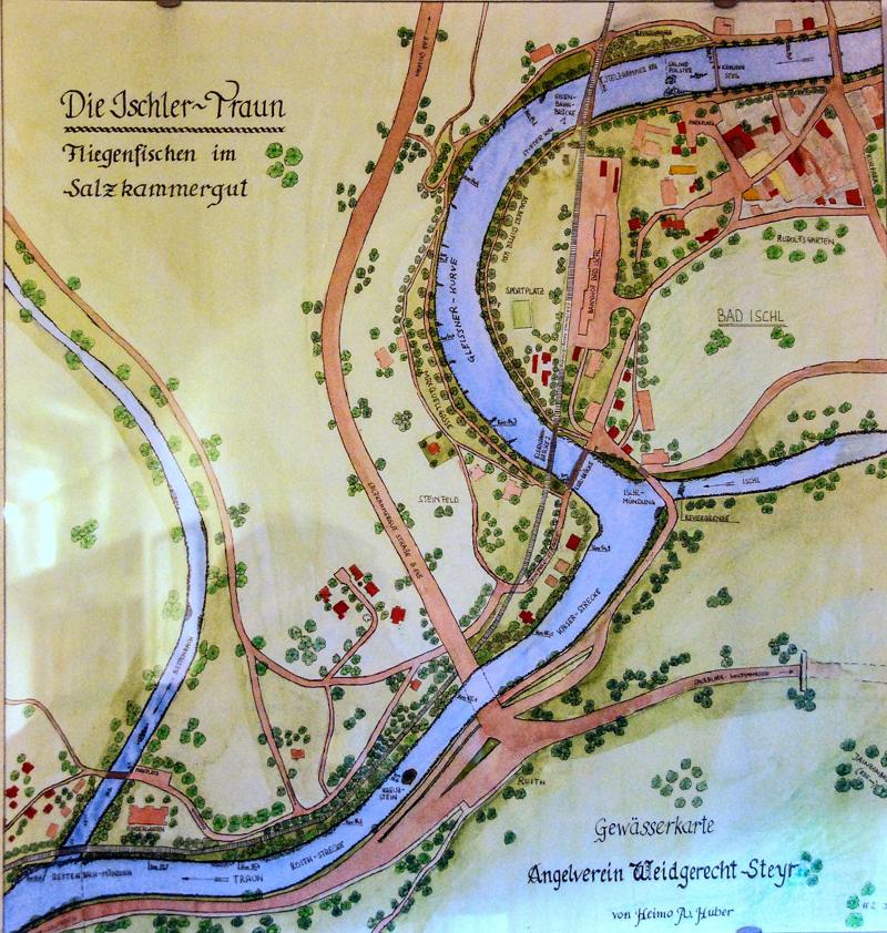 """Eine alte Revierkarte vom """"Kreuzsteinrevier"""", welches heute in die """"Kaiser Traun"""" integriert ist!"""